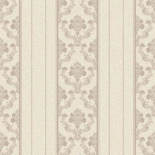 Krem çizgili duvar kağıdı damask desen Vizyon 607121
