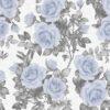 Mavi gül desenli duvar kağıdı Vizyon 607523