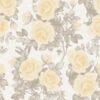 Sarı gül desenli duvar kağıdı Vizyon 607525