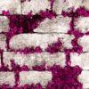 Gri taş desenli duvar kağıdı mor çiçek Elemental 42005-3 duvar kağıdı